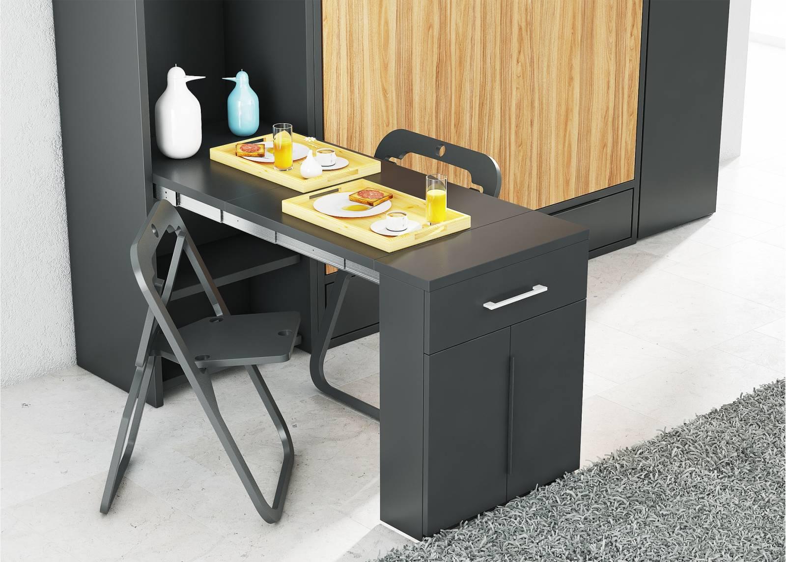 Table Rabattable Petit Espace table murale escamotable menton meuble multifonction pour