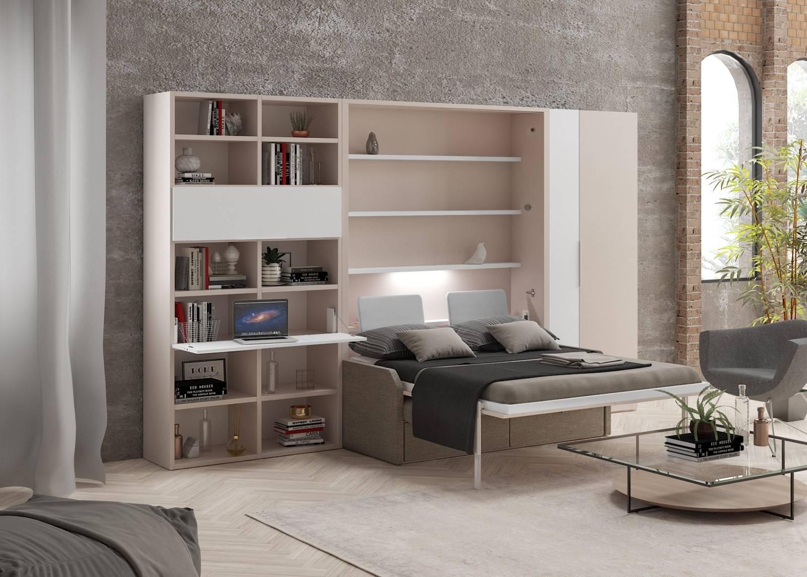 lit escamotable avec canap fr jus compact vertical auto. Black Bedroom Furniture Sets. Home Design Ideas