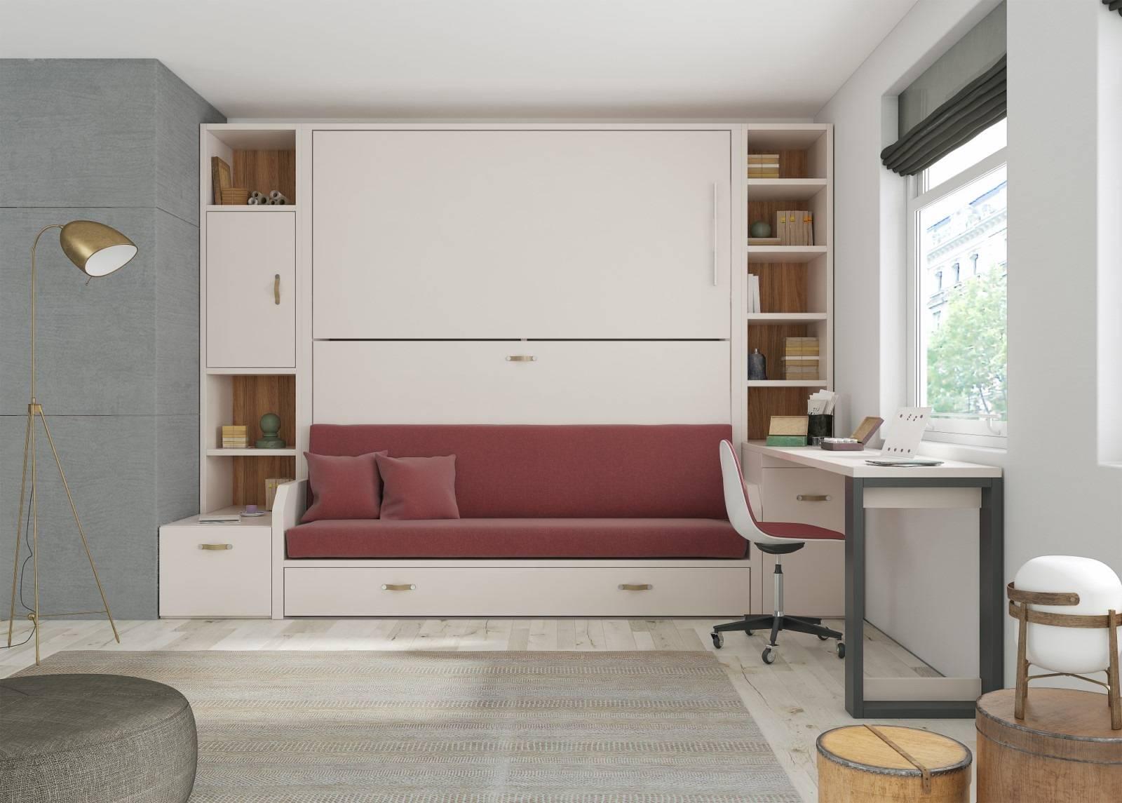 lit superpos escamotable avec canap int gr ajaccio. Black Bedroom Furniture Sets. Home Design Ideas